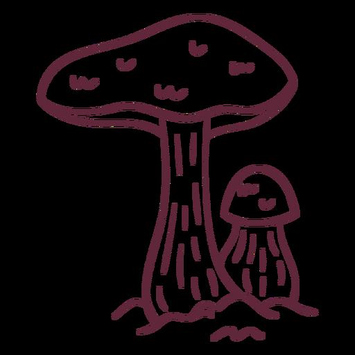 Green mushroom wild stroke