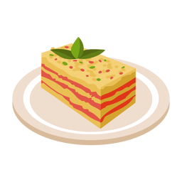 Lasagna italian meal illustration
