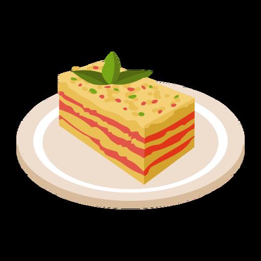 Ilustración de comida italiana lasaña Transparent PNG