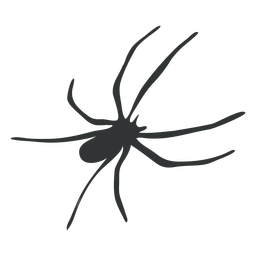 Silhueta de aracnídeo de aranha de pernas compridas