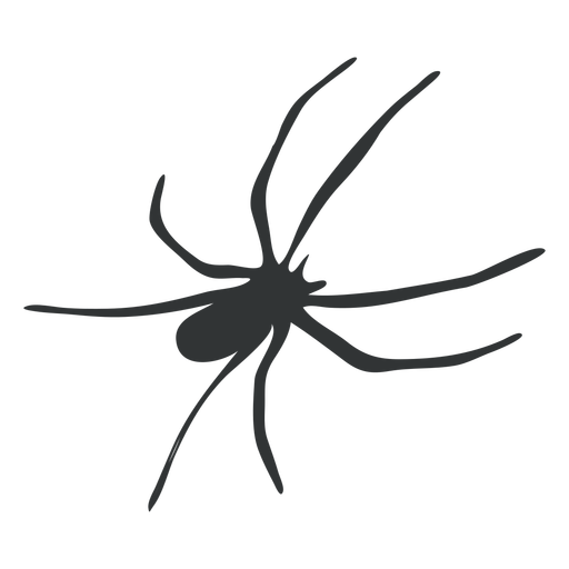 Araña de patas largas silueta de arácnido