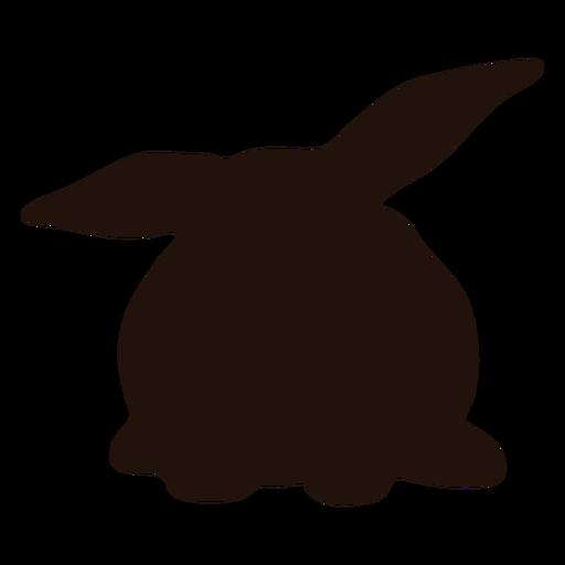 Silueta de animal conejo acostado