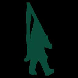 Male flag bearer silhouette
