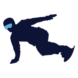 Man snowboarding silhouette