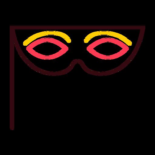 Mask eyewear color stroke
