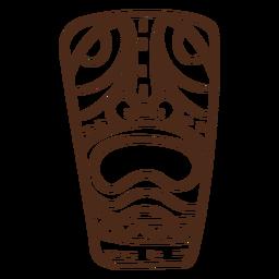 Mask tiki stroke