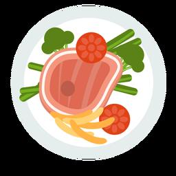 Meal steak flat