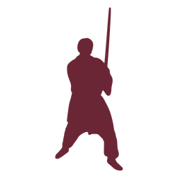 Medieval fighter silhouette