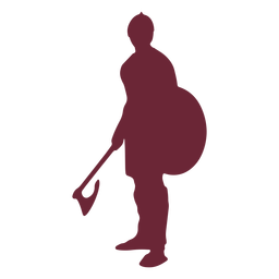 Medieval fighter soldier silhouette