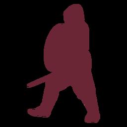 Medieval fighter warrior silhouette