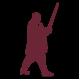 Medieval warrior silhouette