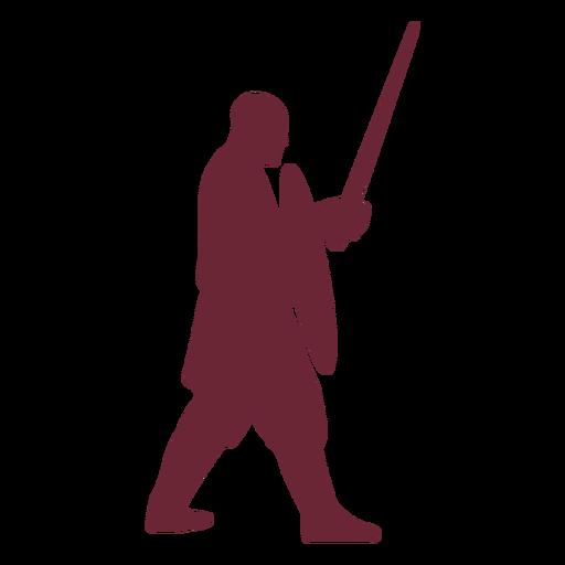 Silueta de guerrero medieval Transparent PNG