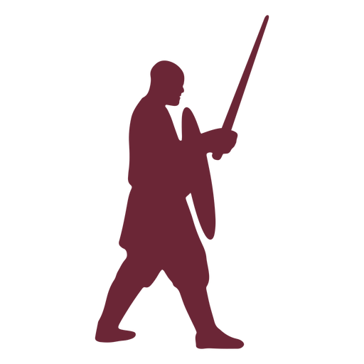 Silueta de guerrero medieval