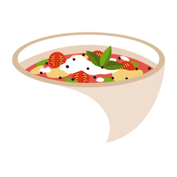 Minestrone soup food illustration