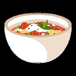 Minestrone soup food illustration