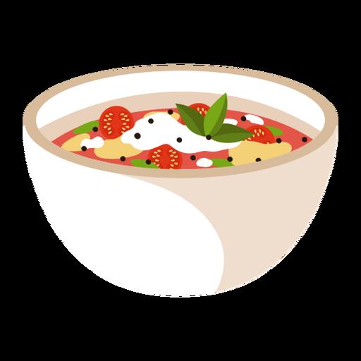 Ilustración de comida de sopa minestrone Transparent PNG