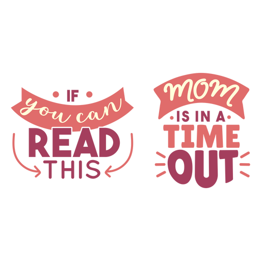 Mom time out lettering