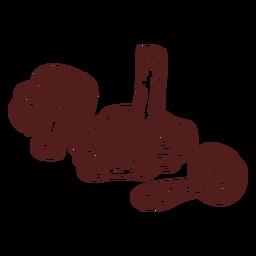 Hongos de comida de setas dibujados a mano