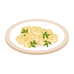 Pasta italian ravioli illustration