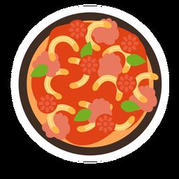 Pasta macaroni dish flat