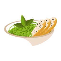 Pasta pesto illustration
