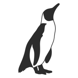 Penguin cute baby silhouette