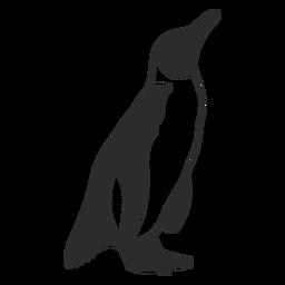 Pingüino lindo bebé silueta