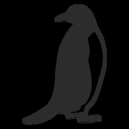 Pinguim procurando silhueta de animal aquático