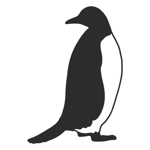 Pingüino buscando silueta de animales acuáticos