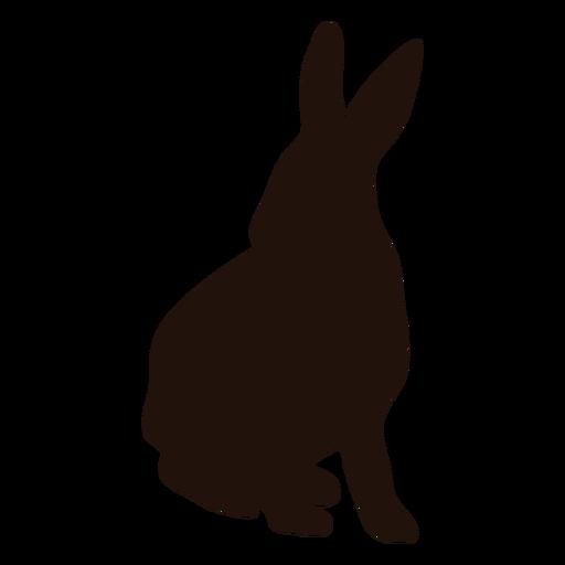 Silueta de alerta de conejo