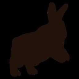 Rabbit animal hop silhouette