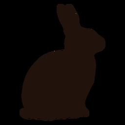 Silhueta de animal coelho sentado