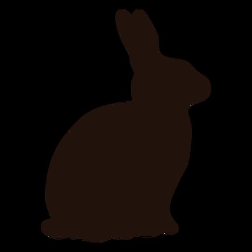 Rabbit animal sitting silhouette Transparent PNG