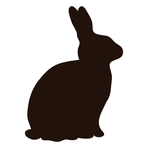 Rabbit animal sitting silhouette