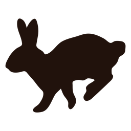 Rabbit hop animal silhouette