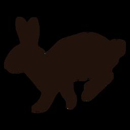 Silueta de animal de salto de conejo