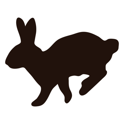 Silhueta de animal coelho hop Transparent PNG