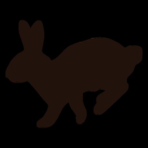 Silueta de animal de salto de conejo Transparent PNG