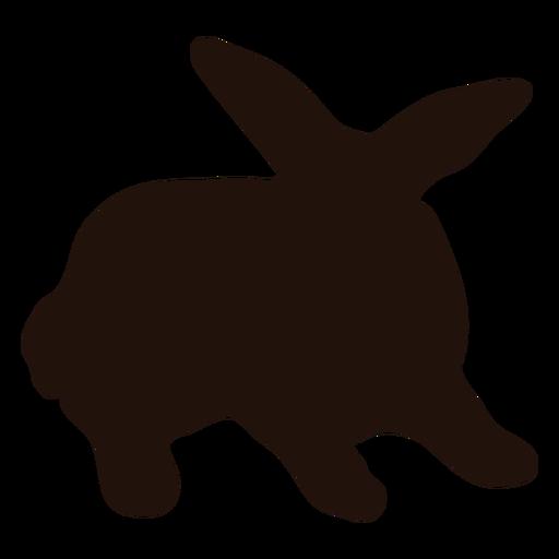Silueta de mascota conejo