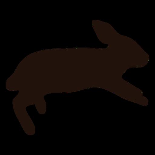 Rabbit running animal silhouette