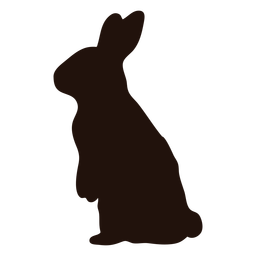Rabbit standing animal silhouette