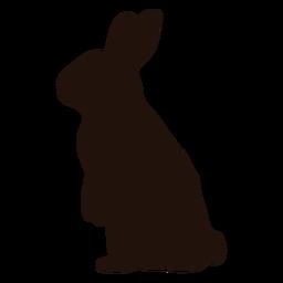 Silhueta de animal em pé de coelho
