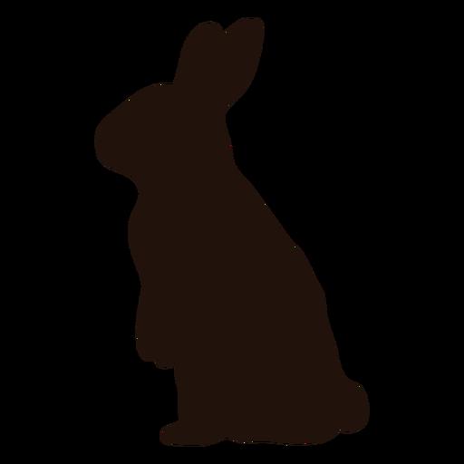 Conejo de pie silueta animal