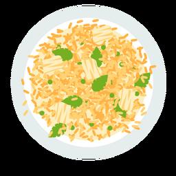 Ilustración de plato italiano de risotto