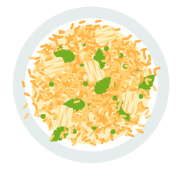Risotto italian dish illustration