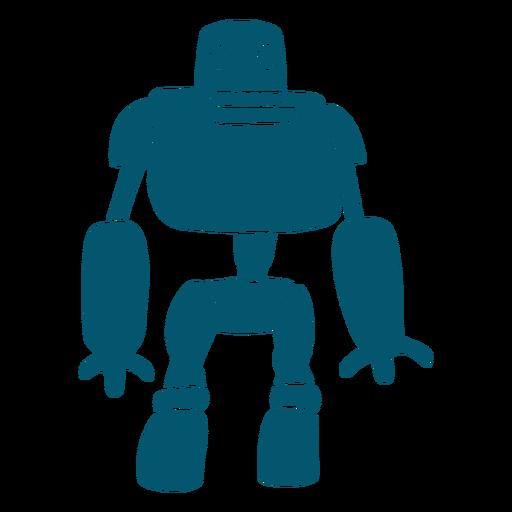 Inteligencia artificial de metal robot