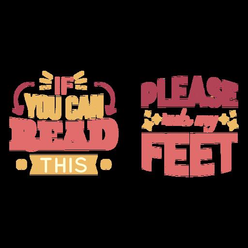Rub my feet lettering