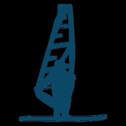 Sail windsurfing silhouette