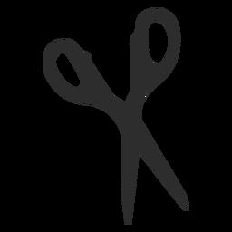 Scissors sharp cut silhouette