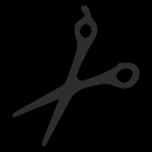 Scissors tooll blade silhouette